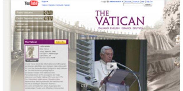Papst Benedikt XVI. hat eigenen YouTube-Kanal