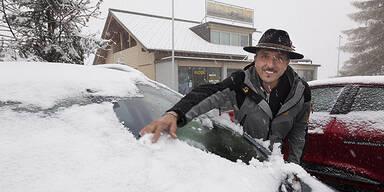 Winter-Einbruch in Österreich