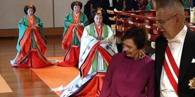 27 Könige und auch VdB bei Japans neuem Kaiser