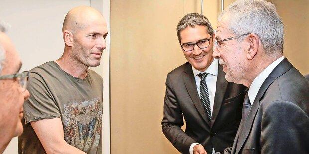 VdB: Handshake mit Legende Zidane