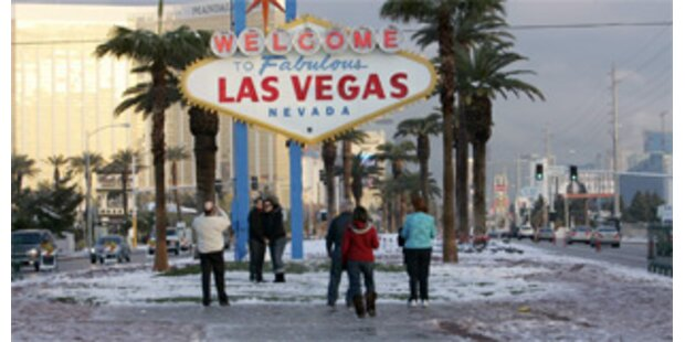 Las Vegas versinkt im Schnee