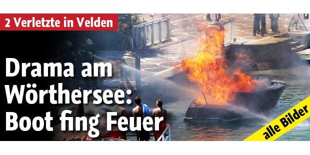 Luxus Boot brennt in Veldener Bucht ab