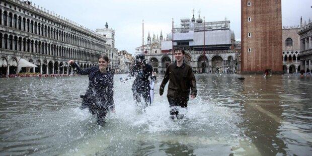 Unwetter in Italien: Hochwasser in Venedig