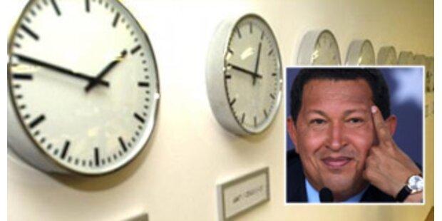 Uhren um eine halbe Stunde zurückgedreht