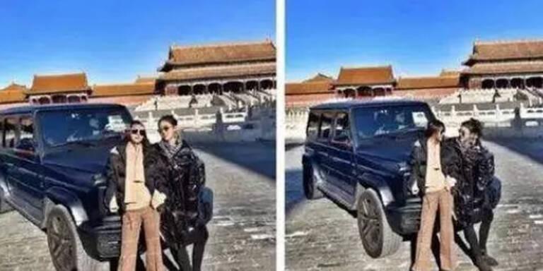 Eklat: Mit Mercedes-SUV in Verbotene Stadt