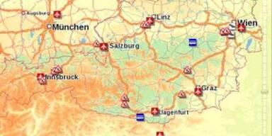 Online-Routenplaner für die EURO08