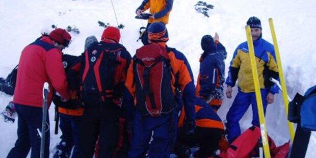 Vier Verschüttete im Tiroler Zillertal