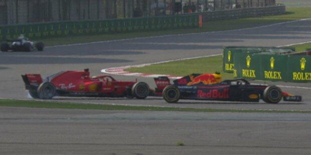 Ramm-Attacke von Verstappen an Vettel