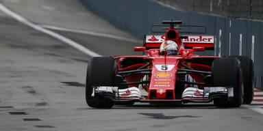 Sebastian Vettel rast zur Pole Position