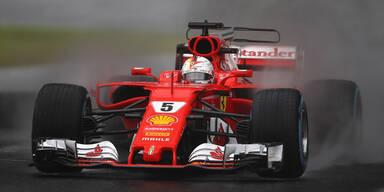 Bestzeit für Vettel im verregneten Suzuka