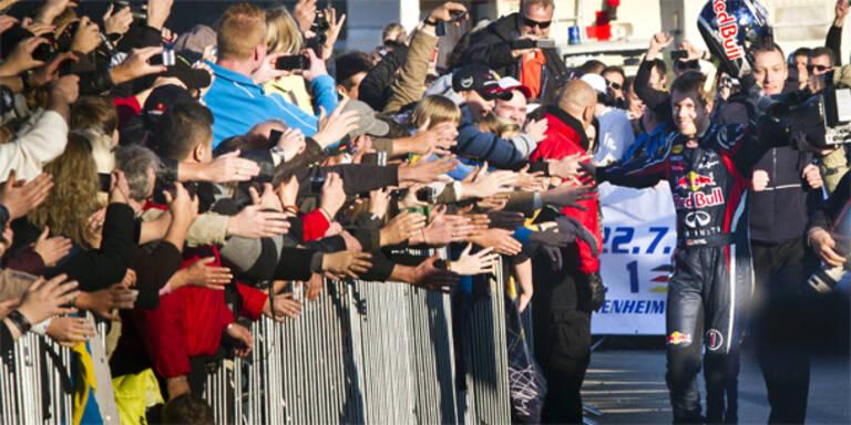 Begeisterter Empfang für Vettel