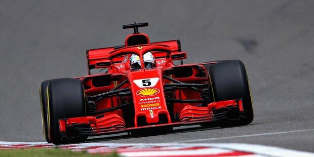 Pole für Vettel, Hamilton fährt hinterher