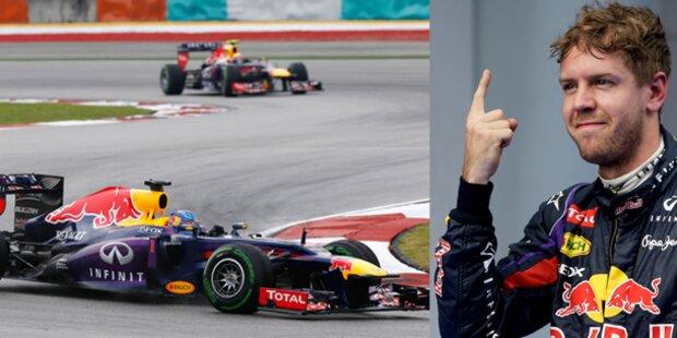 Vettel mit umstrittenem Malaysia-Sieg zur WM-Führung