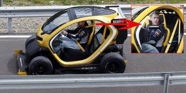 Vettel testet getunten Elektro-Flitzer