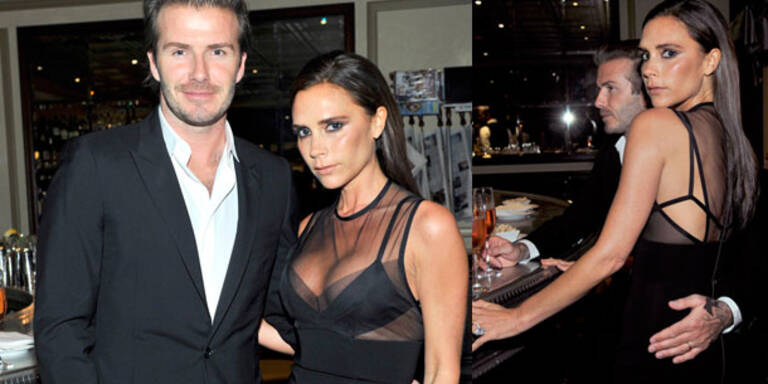 Beckham: Sexy Dekolleté bei Dinner-Party
