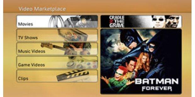 Europastart für Filmdownloads über die Xbox 360