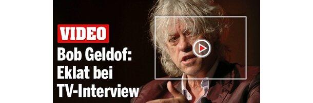 Bob Geldof: Eklat bei TV-Interview