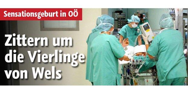 Vierlinge in Wels geboren: Zustand stabil