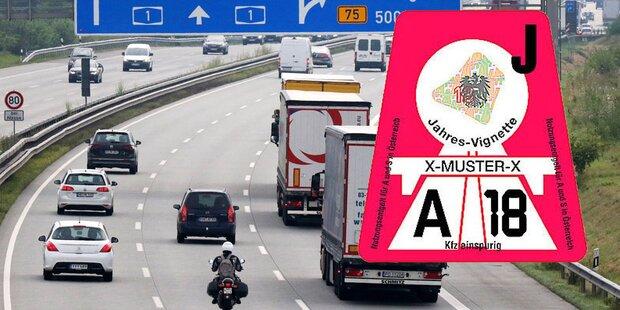 Autobahn-Vignette 2018 ist wieder teurer