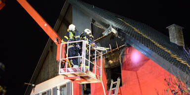 Pensionist stand bei Brand in Flammen