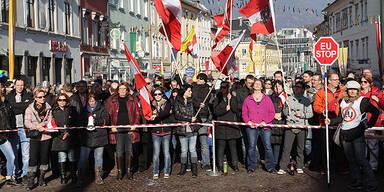 700 Asylgegner demonstrierten in Villach
