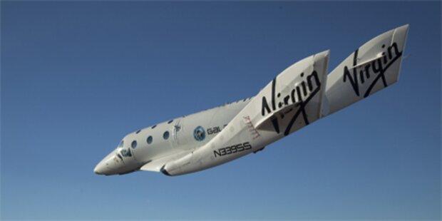 Touristen-Raumschiff absolvierte Testflug