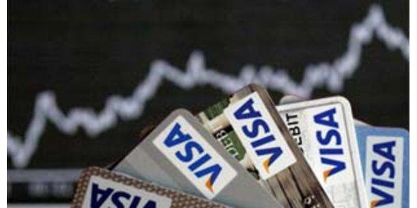 Visa mit Gewinn-Plus von 40 Prozent