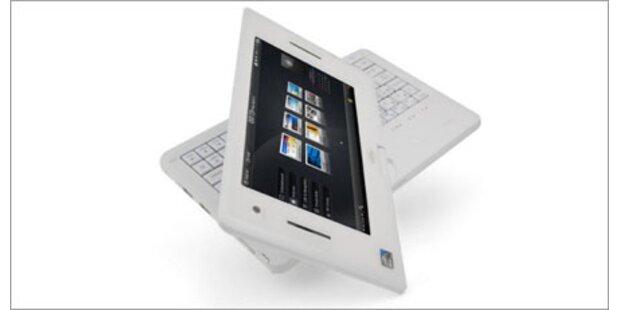 Netbook mit drehbarem Touchscreen