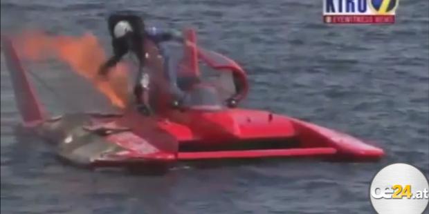 Schnellboot bei Testrunde Feuer gefangen