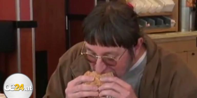 Mann isst seinen 25.000-sten  Big Mac
