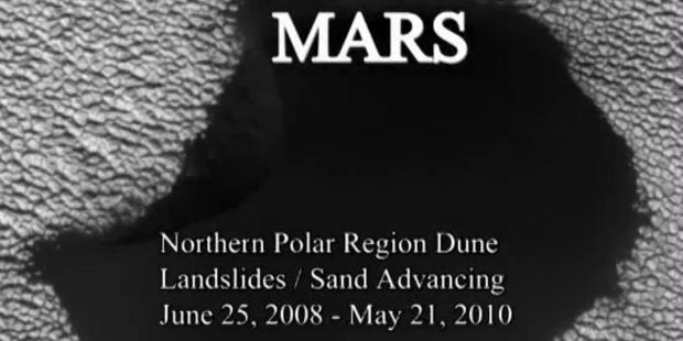Dünen am Mars wandern wie auf der Erde