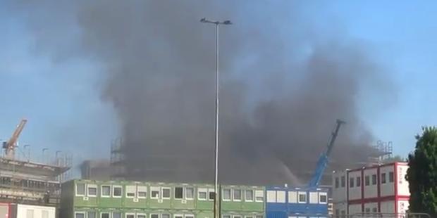 Großbrand im Wiener Prater