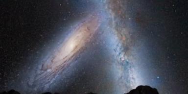 Milchstraße kollidiert mit Andromeda-Galaxie