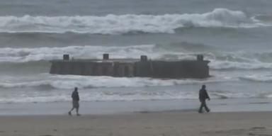 Hafendock an US-Küste gespült