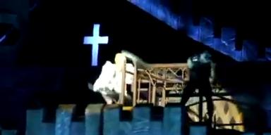 Lady Gaga von Eisenstange getroffen