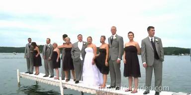 Feuchter Sturz während dem Hochzeitsfoto