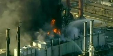 Großbrand in Raffinerie nahe San Francisco