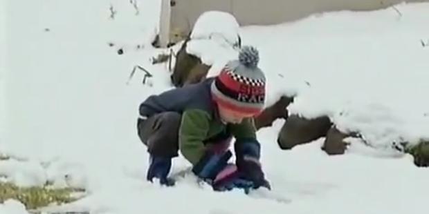 Südafrikaner entzückt von Schneemassen