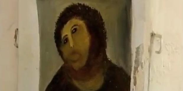 Fatal: Pensionistin übermalte Jesus-Fresko