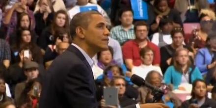 """""""love you back"""" Obama kontert Zwischenruferin"""