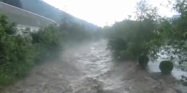 Chaos nach starkem Regen in Österreich
