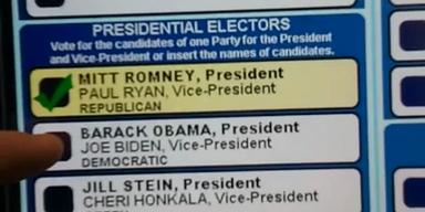 Wahlmaschine wechselt von Obama zu Romney