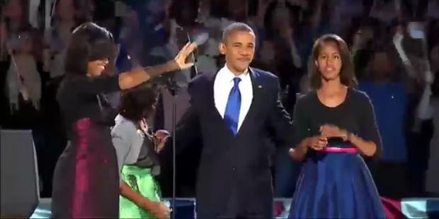 Obama lässt sich nach Wahltriumph feiern