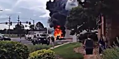 Video zeigt Auto-Explosion in Colorado Springs