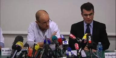 Pressekonferenz zum Zustand von Michael Schuhmacher