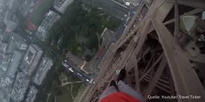 Extremklettern am Eiffelturm