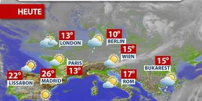 Aktuelle Wetterprognose für Montag (24.4.)