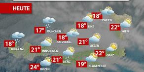 Aktuelle Wetterprognose für Dienstag (25.4.)