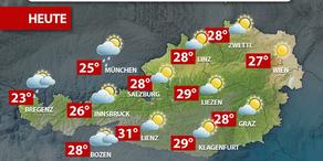 Aktuelle Wetterprognose für Freitag (19.5.)