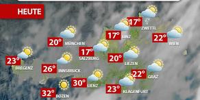 Aktuelle Wetterprognose für Montag (22.5.)